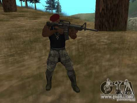 M4A1 for GTA San Andreas third screenshot