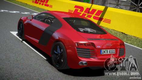 Audi R8 V8 2008 v2.0 for GTA 4 right view