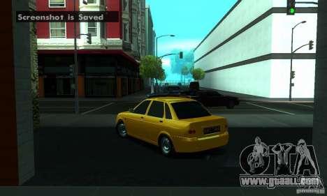 Lada Priora for GTA San Andreas wheels