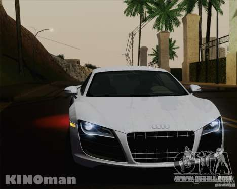 Audi R8 v10 2010 for GTA San Andreas interior