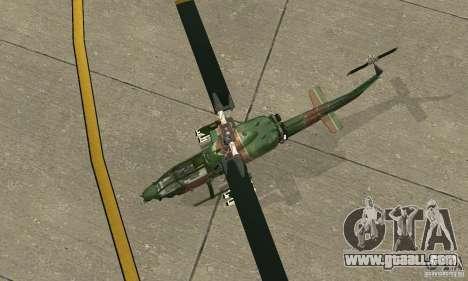 AH-1 super cobra for GTA San Andreas back view