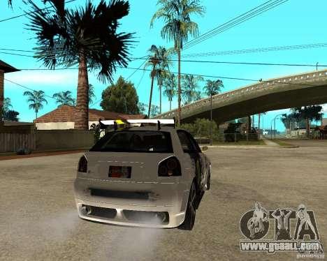 Audi S3 Monster Energy for GTA San Andreas back left view