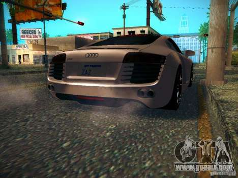 Audi R8 V10 for GTA San Andreas back left view