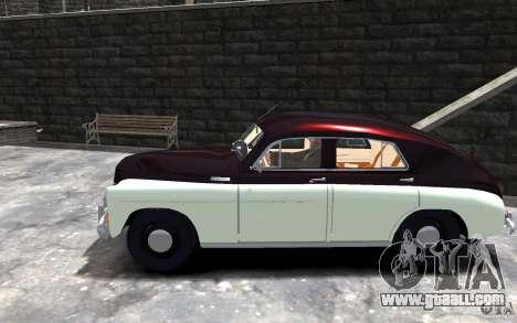 FSO Warszawa M20 201 for GTA 4 left view