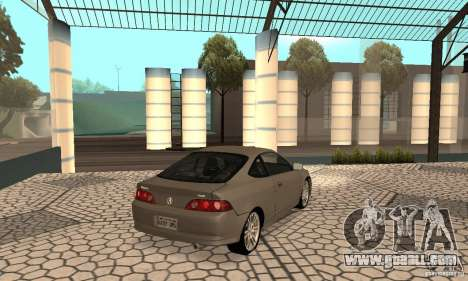 Acura RSX New for GTA San Andreas back left view