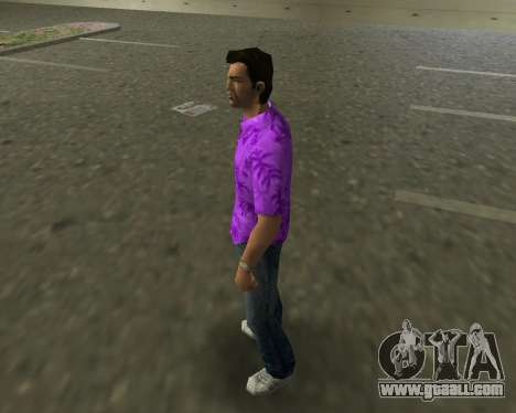 Violet shirt for GTA Vice City