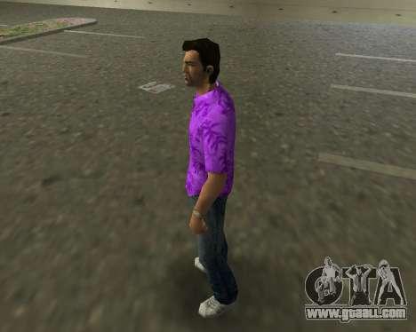 Violet shirt for GTA Vice City second screenshot