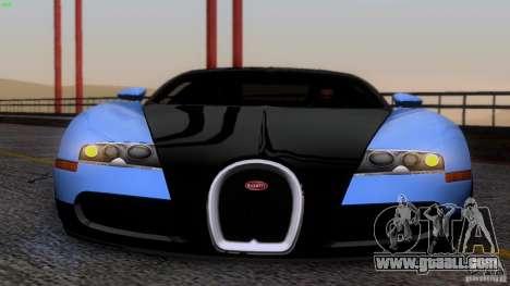 Bugatti Veyron 16.4 for GTA San Andreas upper view