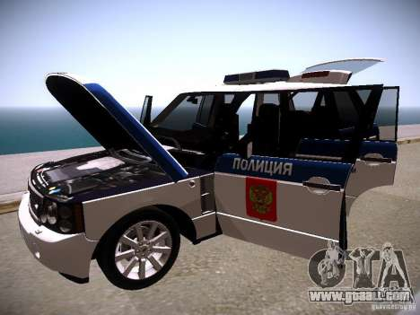 Range Rover Supercharged 2008 Police DEPARTMENT for GTA San Andreas upper view