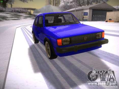 Volkswagen Rabbit GTI for GTA San Andreas
