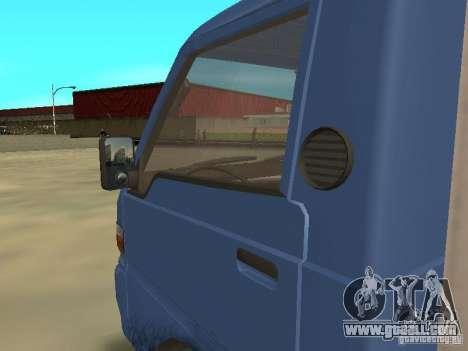 Hyundai Porter for GTA San Andreas inner view