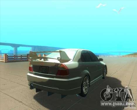 Mitsubishi Lancer Evolution VI 1999 Tunable for GTA San Andreas wheels