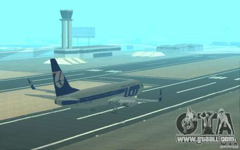 Boeing 737 LOT Polish Airlines for GTA San Andreas engine