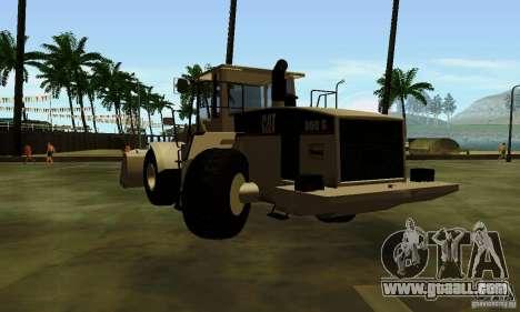 Bulldozer CAT for GTA San Andreas back left view