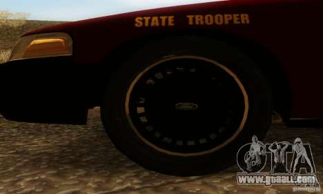 Ford Crown Victoria Minnesota Police for GTA San Andreas back left view
