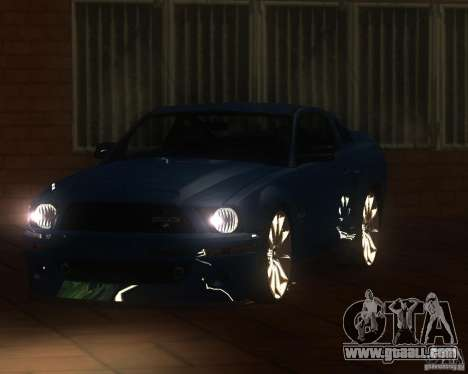 Shelby Mustang 2009 for GTA San Andreas back left view