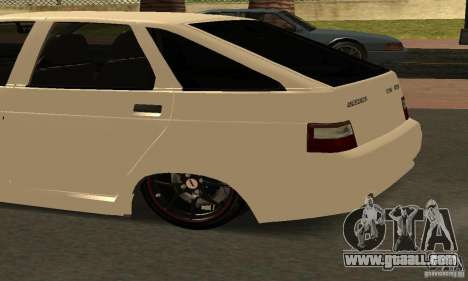VAZ-2112 car Tuning for GTA San Andreas back view