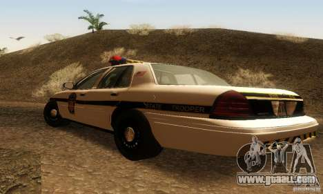 Ford Crown Victoria Pennsylvania Police for GTA San Andreas left view