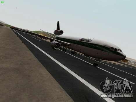 McDonell Douglas DC-10-30 Alitalia for GTA San Andreas right view
