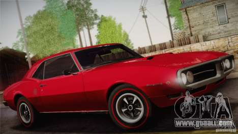 Pontiac Firebird 400 (2337) 1968 for GTA San Andreas wheels