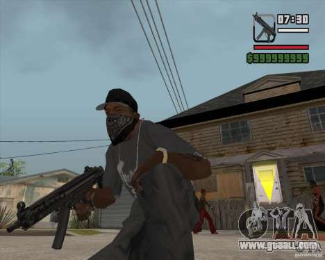 New MP5 (Submachine gun) for GTA San Andreas third screenshot