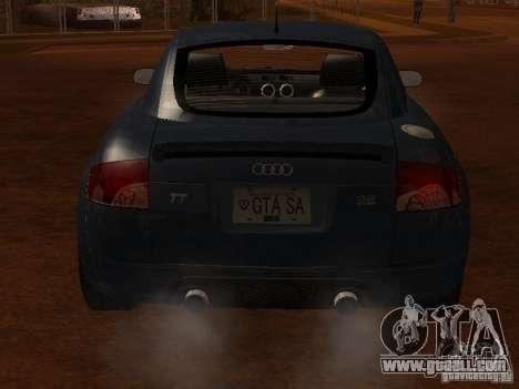 Audi TT 3.2 Quattro for GTA San Andreas back view