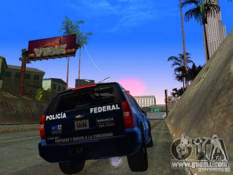 Chevrolet Tahoe 2008 Police Federal for GTA San Andreas right view