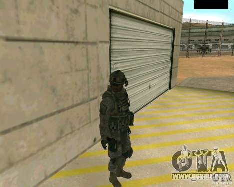 The soldier's skin from CODMW 2 for GTA San Andreas second screenshot