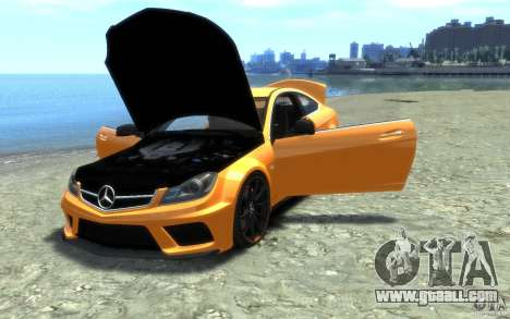 Mercedes-Benz C63 AMG 2012 for GTA 4 side view