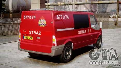 Ford Transit Polish Firetruck [ELS] for GTA 4 inner view