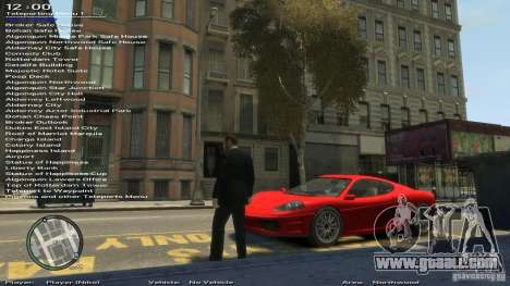 Simple Trainer Version 6.3 for 1.0.1.0-1.0.0.4 for GTA 4 seventh screenshot