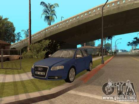Audi S4 for GTA San Andreas upper view