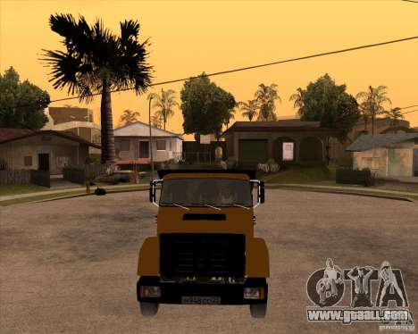 ZIL MMZ 4516 for GTA San Andreas back view