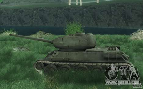 T-34-85 from the game COD World at War for GTA San Andreas back view