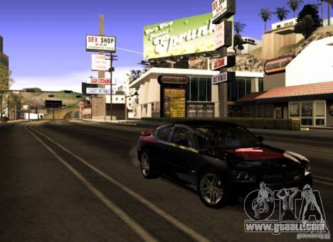 Dodge Charger R/T Daytona for GTA San Andreas bottom view