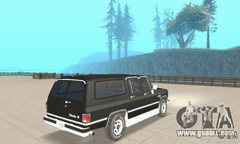 Chevrolet Suburban FBI 1986 for GTA San Andreas left view