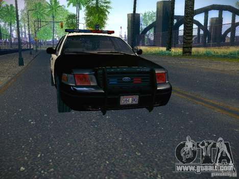 Ford Crown Victoria Police Intercopter for GTA San Andreas back left view