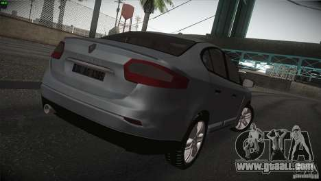 Renault Fluence for GTA San Andreas right view