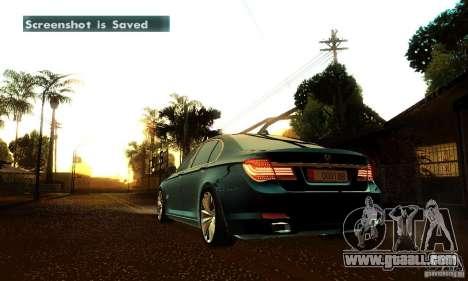 BMW 750Li for GTA San Andreas bottom view