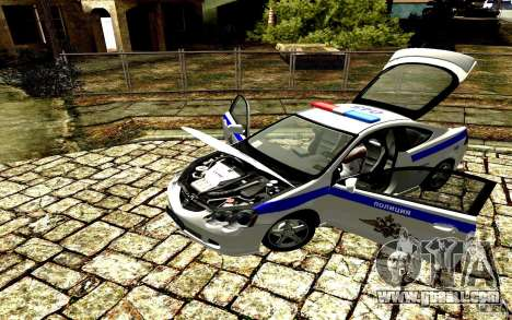 Acura RSX-S Police for GTA San Andreas back left view