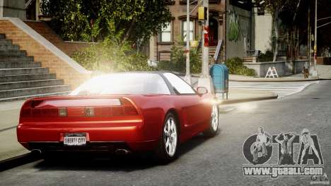 Acura NSX 1991 for GTA 4 back left view