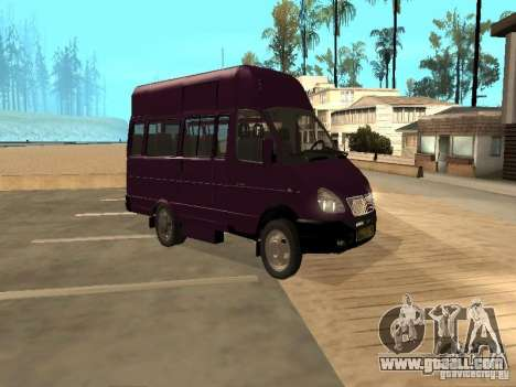 Gazelle 32213 taxi for GTA San Andreas back left view