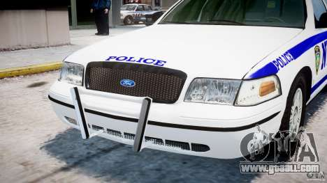 Ford Crown Victoria NYPD for GTA 4 upper view