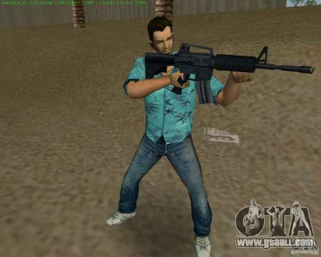 M4 from Counter Strike Source for GTA Vice City sixth screenshot