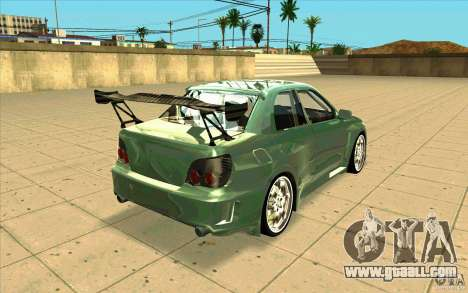 Subaru Impreza STI for GTA San Andreas inner view