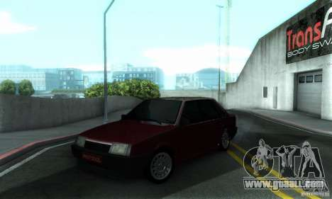 VAZ 21099 PROTOCOL for GTA San Andreas upper view