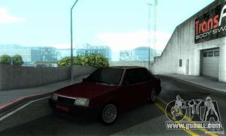 VAZ 21099 PROTOCOL for GTA San Andreas upper view