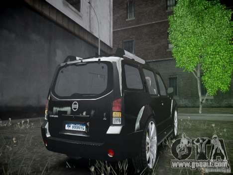 Nissan Pathfinder 2010 for GTA 4 back view