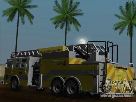 Pierce Arrow XT BCFD Tower Ladder 4 for GTA San Andreas wheels
