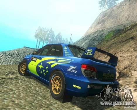 Subaru Impreza WRX STI DIRT 2 for GTA San Andreas back left view